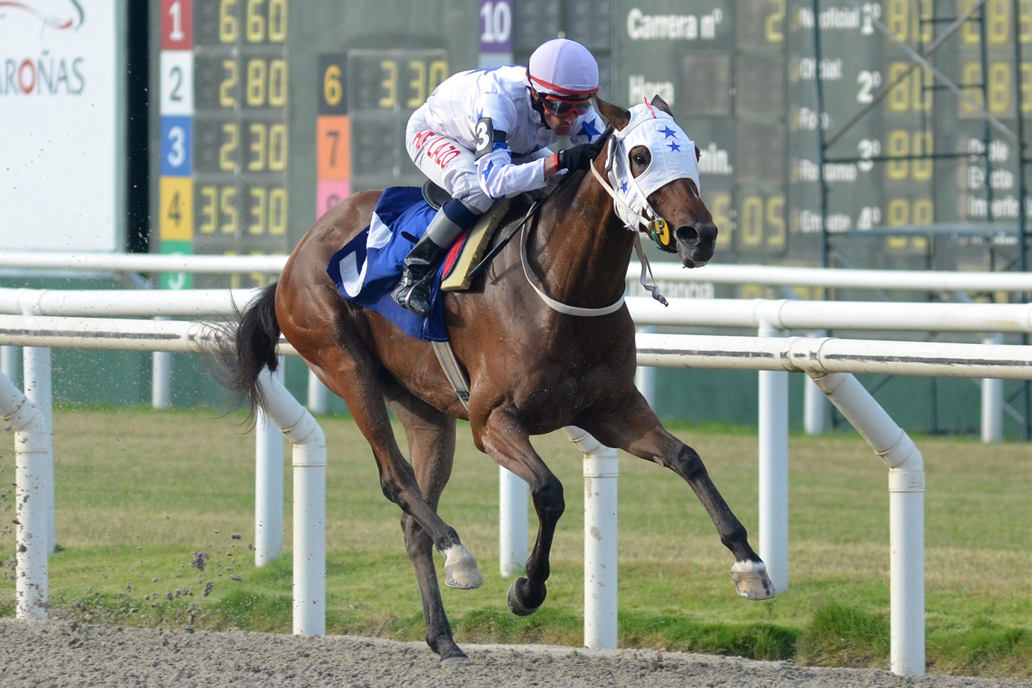 Deliciosa (Smarty Jones) gana Condicional (1500m-Arena-MAR). - Staff ElTurf.com